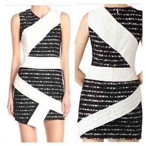BCBGMAXAZRIA Dalia Sleeveless Asymmetrical Dress
